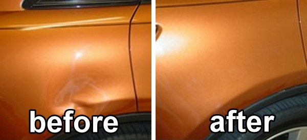 auto body dent before after