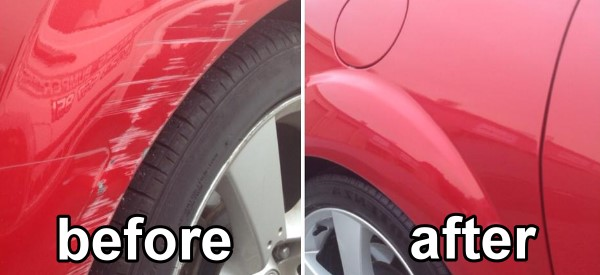 auto body repair before after