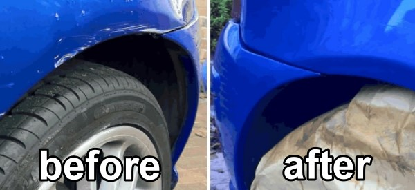 auto body paint before after