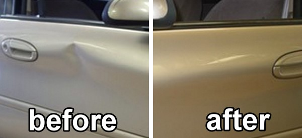 car door repair before after