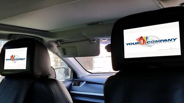 headrest taxi advertising