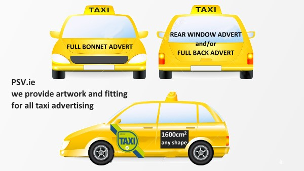 where can you advertise on taxis in Ireland