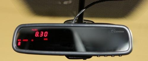semitron mirror taxi meter