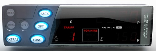 Aquila T2 taxi meter from taxitech