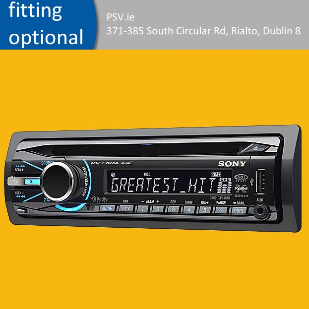 front usb sony car stereo