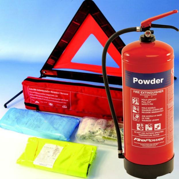 Extinguisher nand fist aid kit