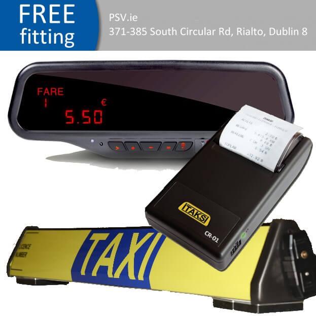 Alberen mirror taxi meter printer and roof sign bundle