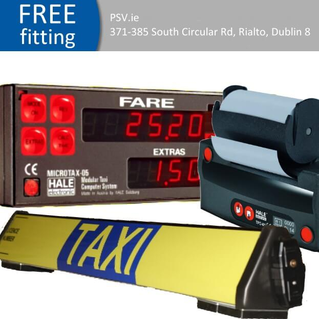 Hale-05 taxi meter with printer and roofsign