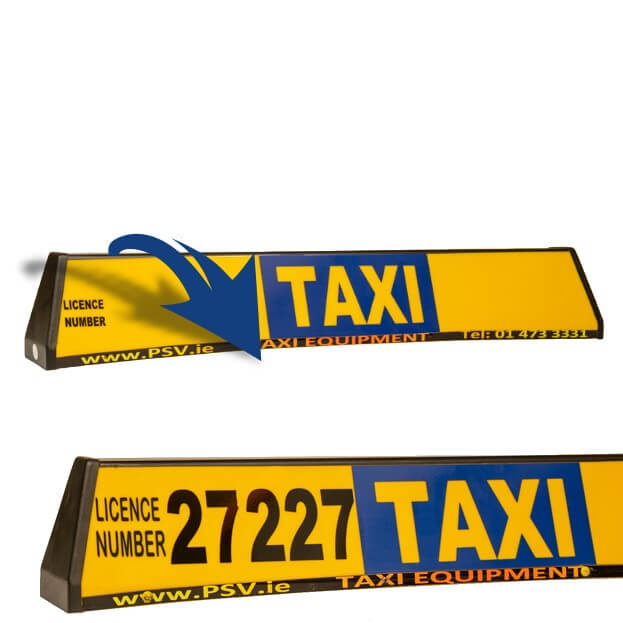roofsign panel for taxi roofsign 2