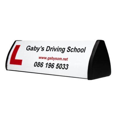 custom driving school roofsign