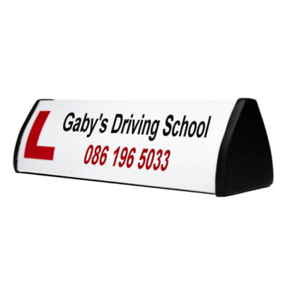 lettering for driving school roofsign